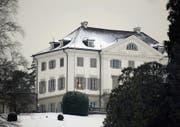 Die Lichter sind noch nicht gelöscht auf Schloss Eugensberg, in dem Rolf Erb mit seiner Familie wohnt. (Bild: Nana do Carmo (6. Januar 2009))