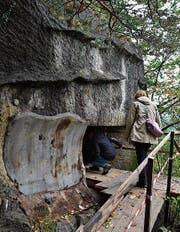 Bunkeranlage in Oberschan geöffnet: Interessierte nutzten die Gelegenheit. (Bild: PD)