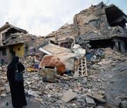 Mossul, die einstige Hauptstadt des Islamischen Staats im Irak, liegt bis heute in Trümmern. (Bild: Murtaja Lateef/EPA (3. Februar 2018))