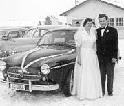 An der Hochzeit im Jahr 1956: Das Ehepaar Trudi und Hans Stürzinger-Kaderli. (Bild: pd)
