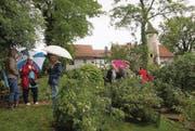 Besucherinnen und Besucher erkunden die in den Südosthang gelegte Gartenanlage. (Bilder: pd/Bruno Gschwend)
