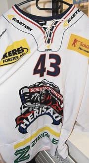 Neues Logo auf dem Shirt des Stürmers Libor Dolana.