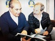 Romano Ruch (rechts) ist nicht mehr Präsident des EHC Uzwil. Sein Vorgänger, Ugur Uzdemir, übernimmt ad interim. (Bild: Simon Dudle)