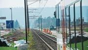 Westlich der Haltestelle St. Katharinental bei Diessenhofen wird an einem zweiten Gleis gebaut. (Bild: Donato Caspari)