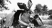Bei Eggethof-Langrickenbach stürzte am 20. Juli 1944 ein US-Bomber B-24 Liberator ab; nur vom Rumpf blieb ein grösseres Stück übrig. (Bild: warbird.ch)