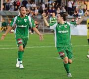 Die Spieler des FC Kreuzlingen wollen auch in der kommenden Saison wieder jubeln. (Bilder: Mario Gaccioli)
