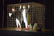 Die Clowns fühlen sich am sichersten in ihrem selbst erbauten Käfig. (Bild: Carmina Wälti)