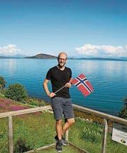 Stefan Rohner am Nordmeer bei Harstad. (Bild: PD)