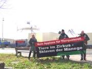 """Ihre Kampagne """"Zirkus: JA - aber ohne Tiere!"""" will der Tierschutzverein LSCV weiterführen. (Bild: pd)"""