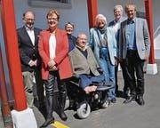 Ja zum Asylgesetz: Hermann Hess, Edith Graf-Litscher, Barbara Kern, Christian Lohr, Regula Streckeisen, Robert Meyer, Kurt Egger. (Bild: Silvan Meile)