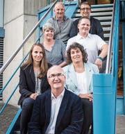 Sie kandidieren für die Schulbehörde (von oben): Emil Harder und Kurt Bühler, Rahel Müller und Pascal Plavec, Sandra Husistein und Claudia Hugger sowie Heinz Gfeller. (Bild: Thi My Lien Nguyen)