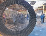 Plastik aus geflochtenem Eisen von Markus Zeller in Arbon. (Bild: Caroline Minjolle)