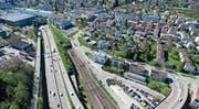 Gute Verkehrswege – wie hier in St. Gallen –, genügend Bauland, neue Wohneigentumsformen in urbanem Gebiet und tiefere Steuerlast sind aktuelle Ziele des HEV. (Bild: Ralph Ribi)