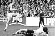 Er schoss von 1982 bis 1989 viele Tore für den FC St.Gallen: Manfred Braschler. (Bild: Archiv)