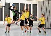 Die Herisauer Handballer bleiben nach dem Sieg weiterhin an der Tabellenspitze. (Bild: Jesko Calderara)