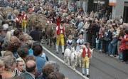 Der farbenfrohe und fröhliche Festumzug 2006 wurde von einem typisch appenzellischen Alpaufzug angeführt. (Bild: PD)