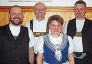 Geehrt für Vereinstreue: Werner Langenegger, Werner Wanner (Ehrenmitglied), Marlis Züst und Roland Brander (Ehrenmitglied). (Bild: PD)
