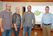 IG-Präsident Päuli Kohler verabschiedet Maise Messmer und begrüsst das neue Vorstandsmitglied Beat Rüegsegger sowie Ersatzrevisor Roger Heussi (von links). (Bild: Hansruedi Rohrer)