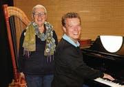 «Musik verbindet», sind sich Berta Thurnherr und Roland Stillhard einig. (Bild: Sophia Zimmerer)