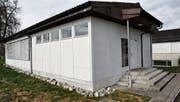 Der Pavillon diente zuletzt der Sek als Schulraum. (Bild: Markus Schoch)