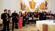 Pater Martin Werlen hielt die Festpredigt. (Bilder: PD)