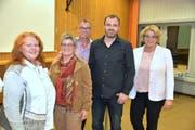 Die Teilnehmer der Podiumsdiskussion an der 1. Integrationskonferenz des Bezirks Weinfelden. (Bild: Mario Testa)