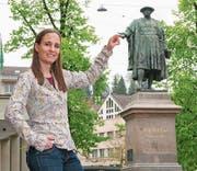 Bettina Schawalder Frei am Lieblingstreffpunkt Vadian. (Bild: PD)