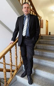 Von Andwil ins Goldacher Rathaus: Gemeindepräsident Dominik Gemperli (CVP) ist seit Anfang Jahr im Amt. (Bild: Linda Müntener)