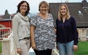 Die Vorstandsmitglieder Claudia Süsstrunk (Beisitzerin), Lilo Städeli (Präsidentin) und Claudia Senn (Vizepräsidentin). (Bild: Hannelore Bruderer)