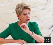 Ständerätin Karin Keller-Sutter hofft auf ein Nein des Stimmvolks zur Altersvorsorge 2020. (Bild: Hanspeter Schiess (St. Gallen, 7. August 2017))