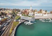 So sieht eine Planskizze für das neue Hafenhotel aus. (Bild: PD)