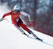 Gold im Visier: die Schwyzerin Wendy Holdener im Training. (Bild: Ezra Shaw/Getty (Pyeongchang, 20. Februar 2018))
