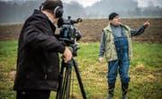 Dreharbeiten für Ergötzliches: Thomas Götz und Daniel Felix proben fürs Programm. (Bild: Reto Martin)