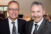 Felix Müller (links) übernimmt von Remo Michel. (Bild: Barbara Hettich)