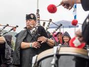Die fünften Appowila Highland Games versanken am 2. September 2017 im anhaltenden Regen. Der Anlass schloss deshalb mit einem Verlust von 40'000 Franken. (Bild: Hanspeter Schiess)