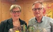 Liliane Kurmann und Paul Peyer wurden ihre Verdienste verdankt. (Bild: PD)