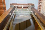 Die rund 4 Meter hohe Luzerner Guillotine wurde bei der letzten Hinrichtung in der Schweiz verwendet. (Bild: URS FLUEELER (KEYSTONE))