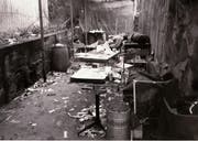 Offene Drogenszene im Jahr 1990: Das Bienenhüsli am Unteren Graben war einst Treffpunkt der Heroinsüchtigen. (Bild: Archiv Stadtpolizei)