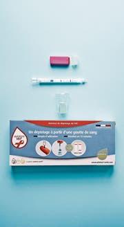 HIV-Schnelltest für den Heimgebrauch. (Bild: AFP)