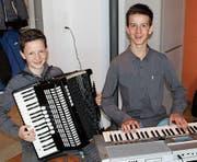 Janic (rechts) und Pascal Bösch spielen oft zusammen. Bil (Bild: d: gb)