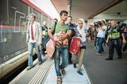 Flüchtlinge mit Babys und Kleinkindern sollen in punkto Beratung die gleichen Chancen erhalten wie Schweizer Eltern. (Bild: Urs Bucher)