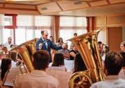An einem Tag eine grosse Leistung vollbracht: junge Musiker aus dem ganzen Kanton. (Bild: Michael Kohler)