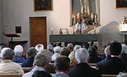 Gottesdienst mit Pfarrer Martin Blaser in der Fatimakirche in Andeer. (Bild: pd)
