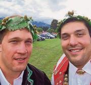 Martin Glaus (links) und Daniel Bösch erreichten beide den Kranz. (Bild: pd)