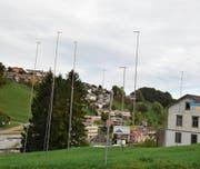 Das Bauland neben dem Schützenhaus soll künftig als Wohn- und Gewerbezone genutzt werden. (Bild: Andy Lehmann)