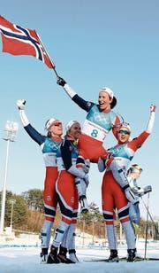 Historischer Sieg: die Norwegerin Marit Björgen. (Bild: Quinn Rooney/Getty (Pyeongchang, 25. Februar 2018))