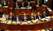 Die Regierung soll auch zukünftig aus sieben Mitgliedern bestehen. (Bild: Regina Kühne)