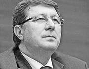 Mauro Poggia Genfer Regierungsrat für Arbeit, Soziales und Gesundheit (Bild: ky/Martial Trezzini)