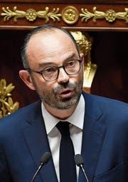 Edouard Philippe verlas gestern vor der Nationalversammlung seine Regierungserklärung. (Bild: Julien de Rosa/EPA (Paris, 4. Juli 2017))