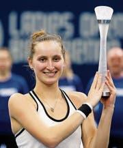 Marketa Vondrousova gewinnt zum ersten Mal ein WTA-Turnier. Es ist erst ihr drittes Turnier überhaupt. (Bild: Peter Klaunzer/KEY)